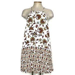 LULUS white floral halter neck short dress